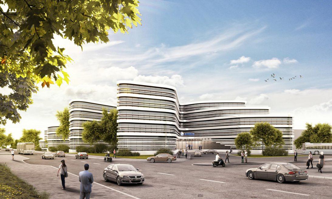 Airbus- Dienstleistungszentrum auf Finkenwerder